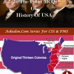 MCQs Of History Of USA – Part II