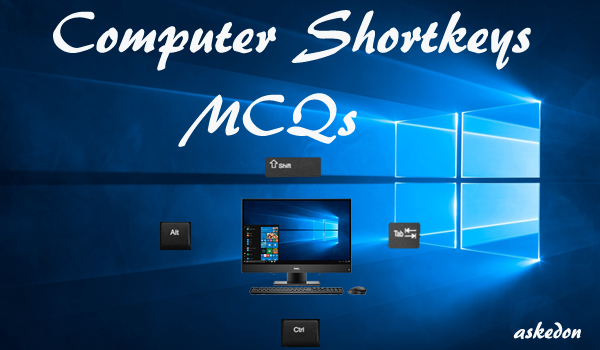 computer shortcut key mcqs 120