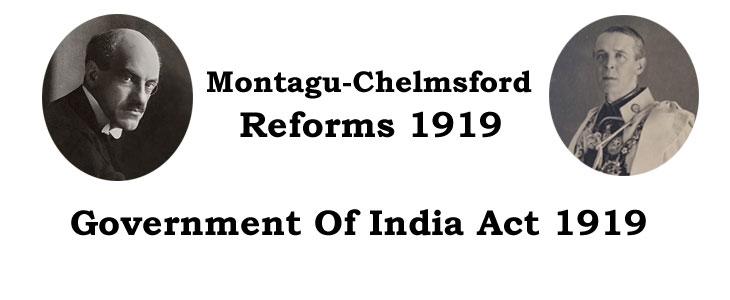 montagu chelmsford reforms 1919